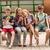 groep · gelukkig · studenten · buitenshuis · primair - stockfoto © dolgachov