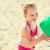 küçük · kız · tatil · sahil · ayakta · plaj · iki - stok fotoğraf © dolgachov