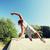 joven · saltar · pared · fitness · verano - foto stock © dolgachov