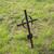 old rusty grave cross on cemetery in ireland stock photo © dolgachov