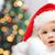 gyönyörű · kicsi · baba · fiú · karácsony · mikulás - stock fotó © dolgachov