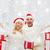 feliz · Pareja · casa · Navidad · cajas · de · regalo · vacaciones - foto stock © dolgachov