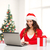 glücklich · Frau · Laptop-Computer · Weihnachtsbaum · Bild · Baum - stock foto © dolgachov