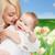 famille · heureuse · fleurs · bébé · garçon · maison · famille - photo stock © dolgachov