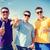 csoport · férfi · barátok · üvegek · sör · nyár - stock fotó © dolgachov
