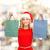 derűs · mikulás · segítő · bevásárlótáskák · fehér · nő - stock fotó © dolgachov
