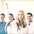 group of doctors showing thumbs up stock photo © dolgachov
