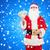 man in costume of santa claus with dollar money stock photo © dolgachov