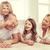 ouders · twee · meisjes · vloer · home · familie - stockfoto © dolgachov