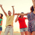 mosolyog · barátok · tánc · nyár · tengerpart · barátság - stock fotó © dolgachov