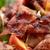 jambon · gıda · çatal - stok fotoğraf © dolgachov