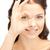 mujer · mirando · agujero · dedos · Foto · mano - foto stock © dolgachov