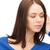 portret · jonge · mooie · zakenvrouw · luisteren - stockfoto © dolgachov