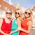 três · belo · meninas · rua · mulheres · posando - foto stock © dolgachov