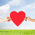 vrouw · man · handen · Rood · hart · liefde - stockfoto © dolgachov