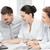 equipe · de · negócios · trabalhando · escritório · laptop · negócio - foto stock © dolgachov