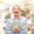 laughing businesswoman with dollar cash money stock photo © dolgachov