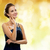 smiling woman in evening dress stock photo © dolgachov
