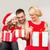 mutlu · aile · açılış · hediye · kutuları · aile · Noel · noel - stok fotoğraf © dolgachov
