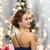 gyönyörű · nő · estélyi · ruha · visel · fülbevalók · emberek · ünnepek - stock fotó © dolgachov
