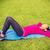 młoda · kobieta · mata · do · jogi · siłowni · szczęśliwy · sportu · fitness - zdjęcia stock © dolgachov