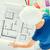 женщину · цвета · план · архитектура · интерьер - Сток-фото © dolgachov
