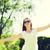 jovem · bastante · hispânico · mulher · voador · cabelo - foto stock © dolgachov