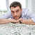 gelukkig · zakenman · besparing · geld · spaarpot · kantoor - stockfoto © dolgachov