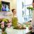 mosolyog · virágárus · nő · férfi · virágüzlet · emberek - stock fotó © dolgachov