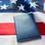passaporte · visa · bandeira · americana · segurança · azul - foto stock © dolgachov