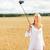 mutlu · genç · kadın · teknoloji · yaz - stok fotoğraf © dolgachov