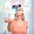 donna · virtuale · realtà · auricolare · occhiali · 3d · tecnologia - foto d'archivio © dolgachov