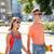 jeunes · Teen · couple · rue · homme · urbaine - photo stock © dolgachov