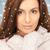 mooie · vrouw · witte · wanten · foto · vrouw · winter - stockfoto © dolgachov