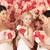 csinos · rózsaszín · rózsák · menyasszonyi · virágcsokor · szelektív · fókusz - stock fotó © dolgachov