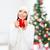 kadın · tozluk · kazak · beyaz · ağaç · noel · ağacı - stok fotoğraf © dolgachov