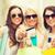 grupy · dziewcząt · zakupy · sprzedaży · torby · szczęśliwy - zdjęcia stock © dolgachov