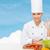 笑みを浮かべて · シェフ · 新鮮な野菜 · 魅力的な · 白人 · 立って - ストックフォト © dolgachov