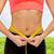 weiblichen · Hände · Taille · Ernährung - stock foto © dolgachov