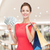 mosolygó · nő · bevásárlótáskák · pénz · vásár · emberek · ünnepek - stock fotó © dolgachov