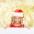 glimlachend · jonge · vrouw · hoed · winter - stockfoto © dolgachov