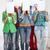 diákok · arcok · papírok · oktatás · csoport · papír - stock fotó © dolgachov