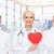 feliz · jovem · médicos · vermelho · coração · medicina - foto stock © dolgachov