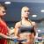 donna · personal · trainer · palestra · manubri · corpo · fitness - foto d'archivio © dolgachov