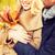 romantyczny · para · jesienią · człowiek - zdjęcia stock © dolgachov