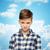 teen · chłopca · dłoni · retro · młodych · nastolatków - zdjęcia stock © dolgachov