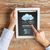 close up of hands with weather cast on tablet pc stock photo © dolgachov