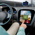 hombre · conducción · coche · menú · ordenador - foto stock © dolgachov