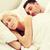 feliz · Pareja · dormir · cama · hotel · viaje - foto stock © dolgachov