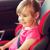 boldog · kislány · ül · baba · autó · ülés - stock fotó © dolgachov